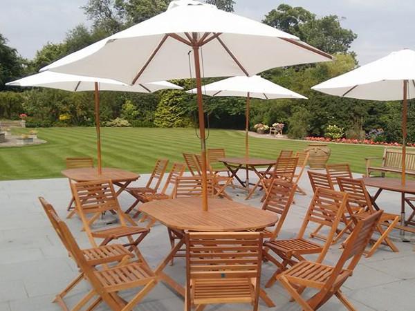 wooden garden furniture hire