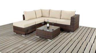 Rattan Furniture Small Corner Sofa Set