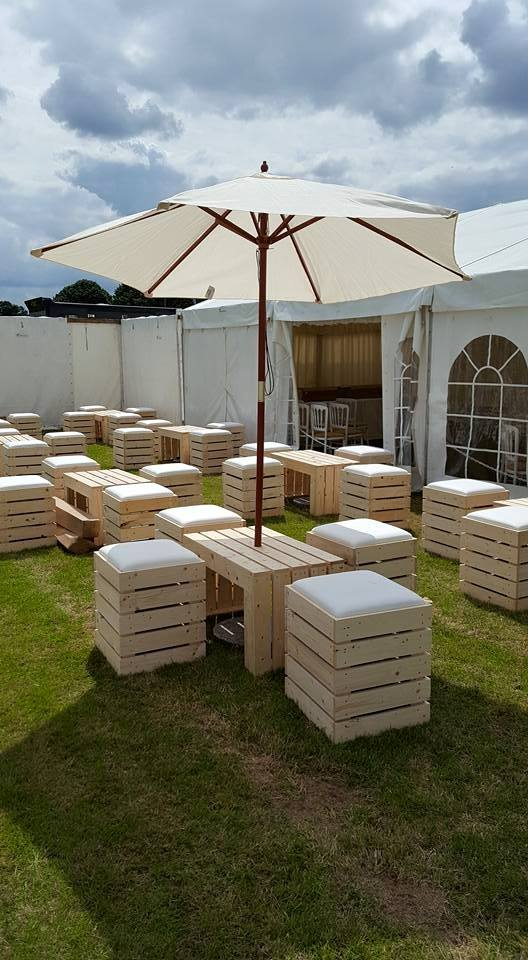 Outdoor Crate Pallet Furniture Hire Dick Ropa