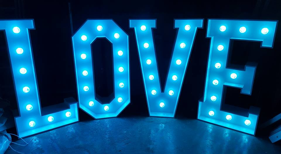 LED Love Letter Hire Dick Ropa Entertainments