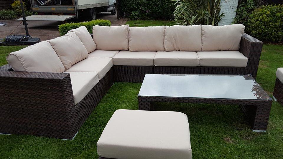 Rattan Furniture Large Corner Sofa Set