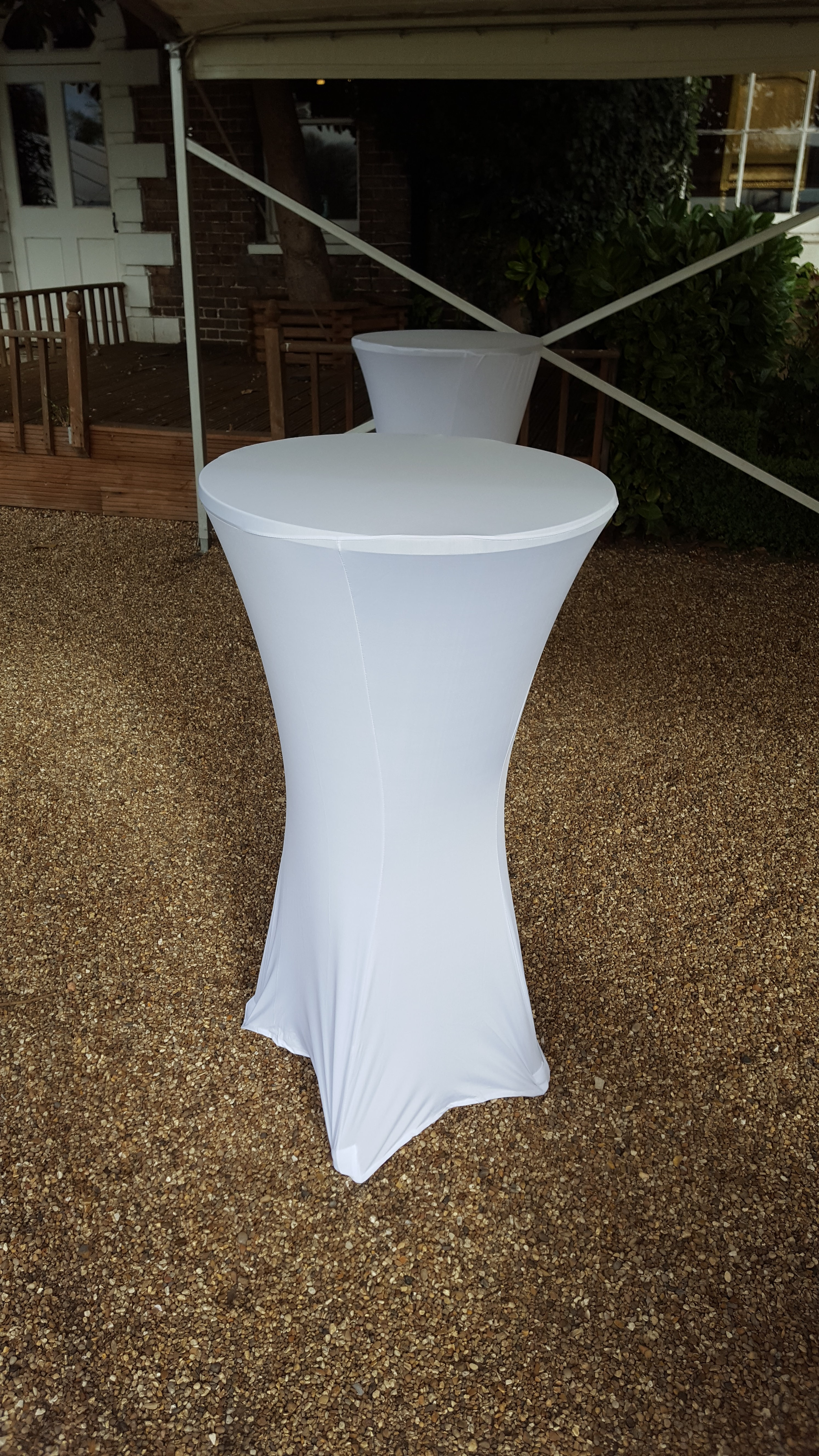 Cocktail table hire led poseur table hire outdoor